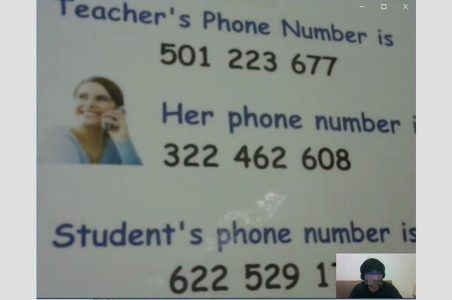 DMEメソッドの無料体験 英語での電話番号の読み方