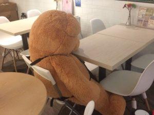 落ち込む熊 準備しないで英会話学校へ行くと、話せずに自信を失う結果になる